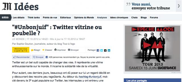 Le Monde- Tribune