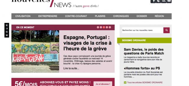Les Nouvelles News - Journalisme web